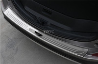 For Toyota RAV4 AX40 2016 2017 2018 Rear Bumper Trunk Threshold Door Sill Outer Protector Cover Trim Stainless Steel Accessories