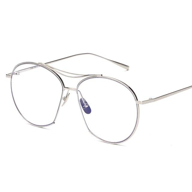 05b5b1434 Eyeweare Mens Armações de óculos de Designer de Marca de luxo Do Vintage  Ouro Rosa de