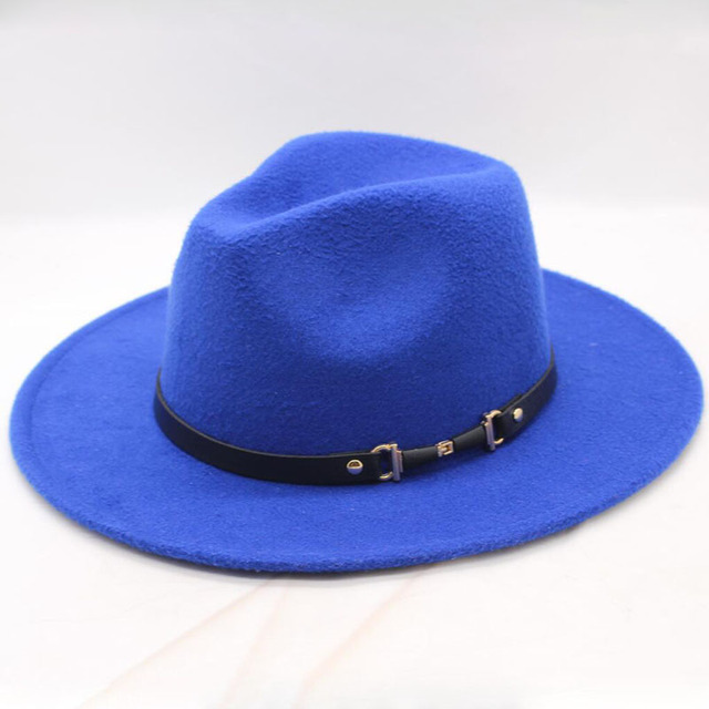Royal blue Womens fedora 5c64fe1e6999f