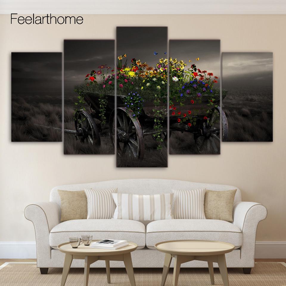 blumen natur bilder-kaufen billigblumen natur bilder partien aus ... - Wandbilder Wohnzimmer Modern