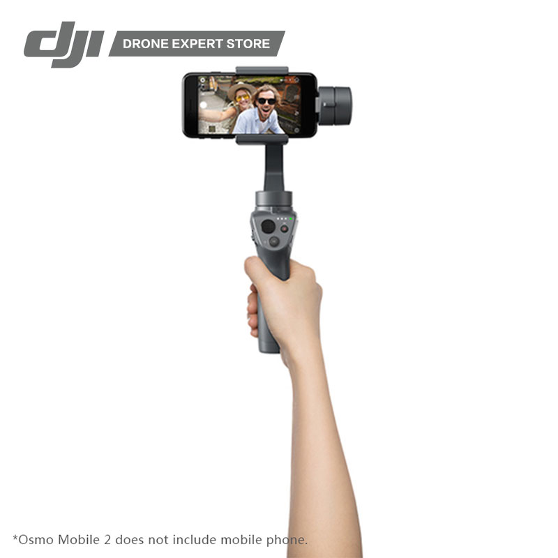 In Stock DJI 3-Axis Handheld Gimbal Stabilizer Osmo Mobile 2 for Smartphone Making Smooth Video Motion Timelapse/Zoom Control wewow fancy smartphone 1 axis gimbal video stabilizer one axis steadicam mobile mount led light selfie stick in stock