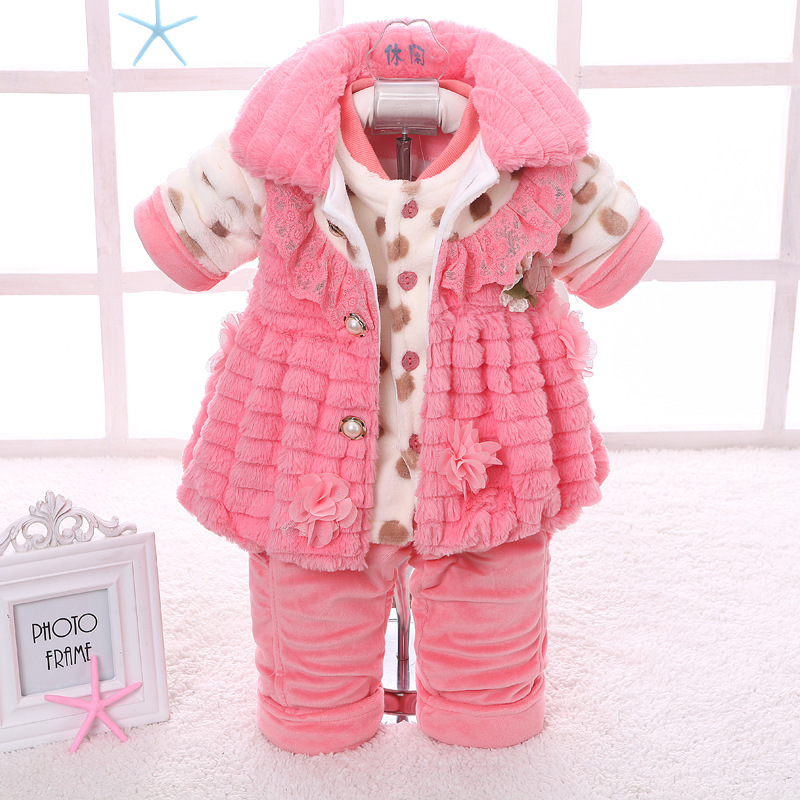 Fashion Newborn Baby Girl Kids Clothes Girls Sets Casual Cotton Long Infant Winter Clothing