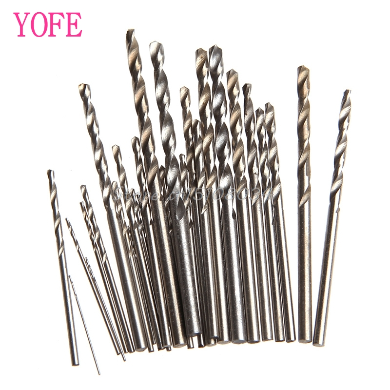 28Pcs Mini Micro HSS Twist Drill Bits Set Metric Sizes 0.3-3.0mm For PCB Crafts S08 Wholesale&DropShip