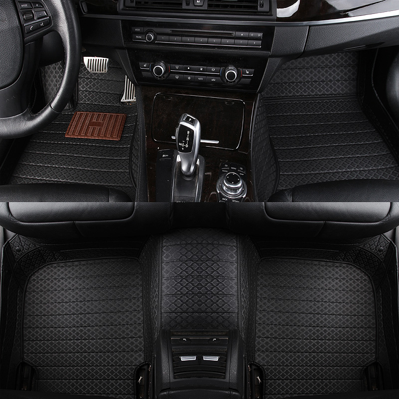 Leather custom car floor mats for Nissan all model tiida qashqai x trail Murano March Teana quest Patrol Paladin SYLPHY livina