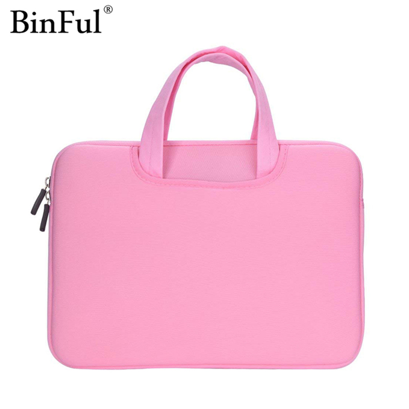 BinFul 12 13 15 15.6 inch sleeve Laptop bag Notebook Case Computer Cover Handle Pouch for Macbook Air Pro Retina 11.6 13.3 15.4 notebook bag 12 13 3 15 6 inch for macbook air 13 case laptop case sleeve for macbook pro 13 pu leather women 14 inch