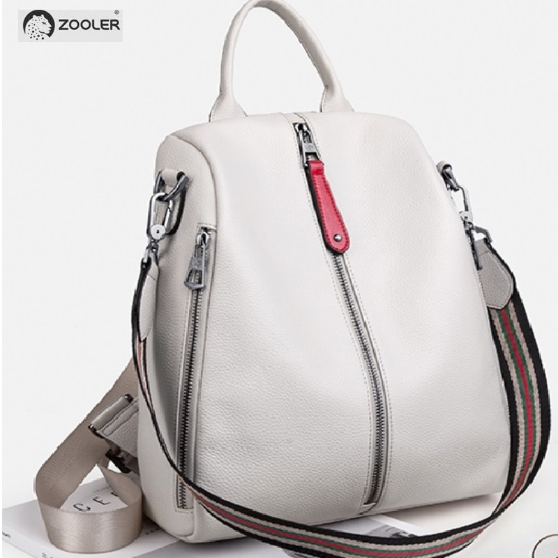 2019 NEW white travel bag ZOOLER real leather backpack women genuine leather backpacks fashion luxury backpack