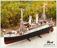 1915 German tin tuna boat model ship model sailboat window Decoration props retro craft