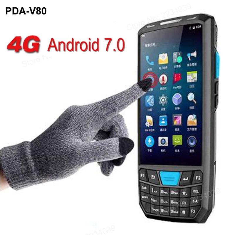 Tela de toque android handheld pda scanner de código de barras 1d 2d dispositivo terminal de coletor de dados portátil com WI-FI 4G GPS BT câmera