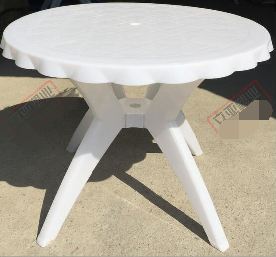 100CM Diameter Eco-friendly HDPE Beach Tables Outdoor big round table With holes 73 outdoor recycled earth friendly bar table aruba green with black frame
