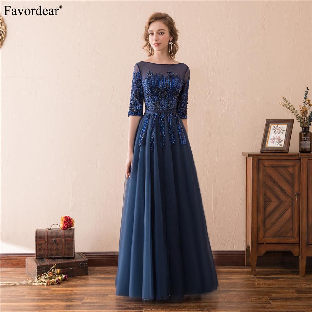 Favordear New Arrival Half Sleeve Floor Length Teal Evening Dress Mother Of Brides Dress Hot Sale