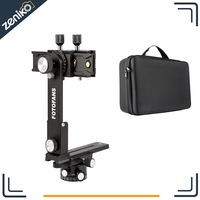 New 4th Generation! Fotomate Pro Panoramic Camera Tripod Kit Head Gimbal Bracket Plate Rail Slider 360 Degree Rotated With Bag