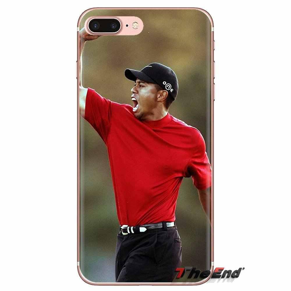 Eldrick Tiger Woods Golf Star de cubierta de teléfono de silicona para Xiaomi mi 4 mi 5 mi 5S mi 6 mi A1 A2 5X 6X 8 9 Lite SE Pro mi Max MIX 2 3 2S