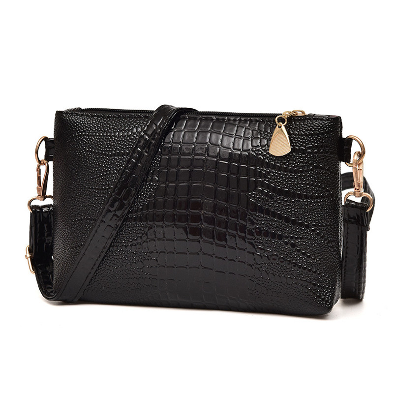 women bag Handbags 2017 Hot Selling Women Fashion Crocodile Pattern Shoulder Bag Small Tote Ladies Female High Grade Bags A8 black and white two color hot selling elegant ladies clutch bag fashion women handbags wedding handbags c696