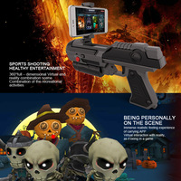 AR Gun Game Bluetooth Real Mobile Games Augmented Airsoft Weapons Cell Phone Stand Holder Smartphones FQ777 Gift for Kid