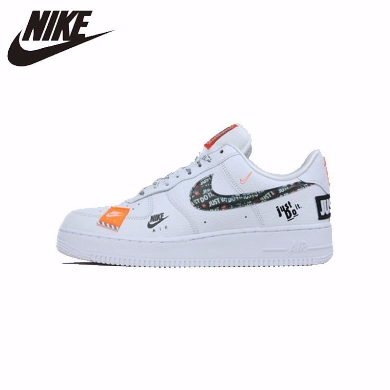 Nike Official Air Force 1 '07 Just Do It Breathable Utility Men's Skateboarding Shoes Outdoor Comfortable Sneakers # AR7719-100