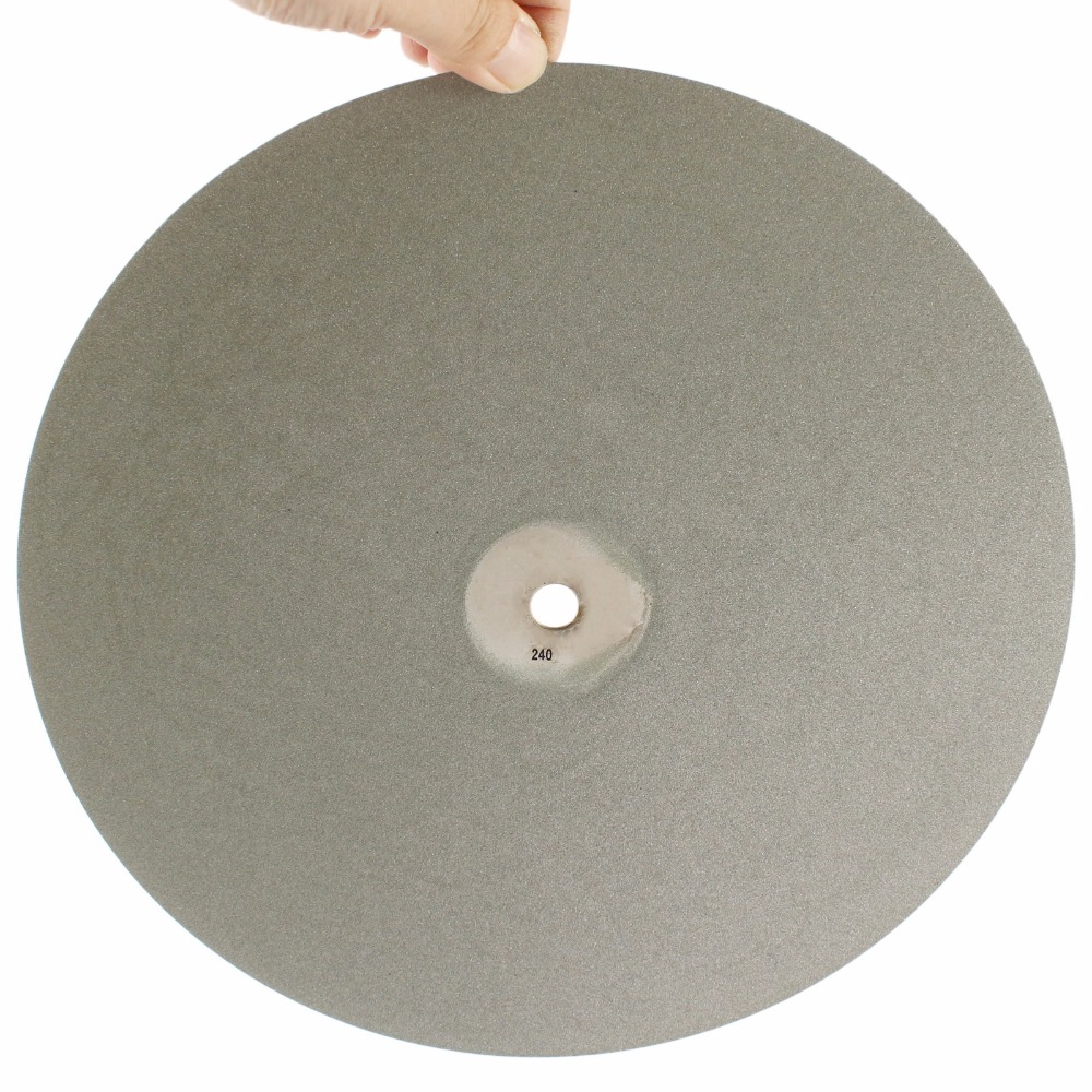 12 inch 300mm Grit 240 Diamond Grinding Disc Abrasive Wheel Coated Flat Lap Disk Lapidary Tools for Stone Glass Ceramics Tile