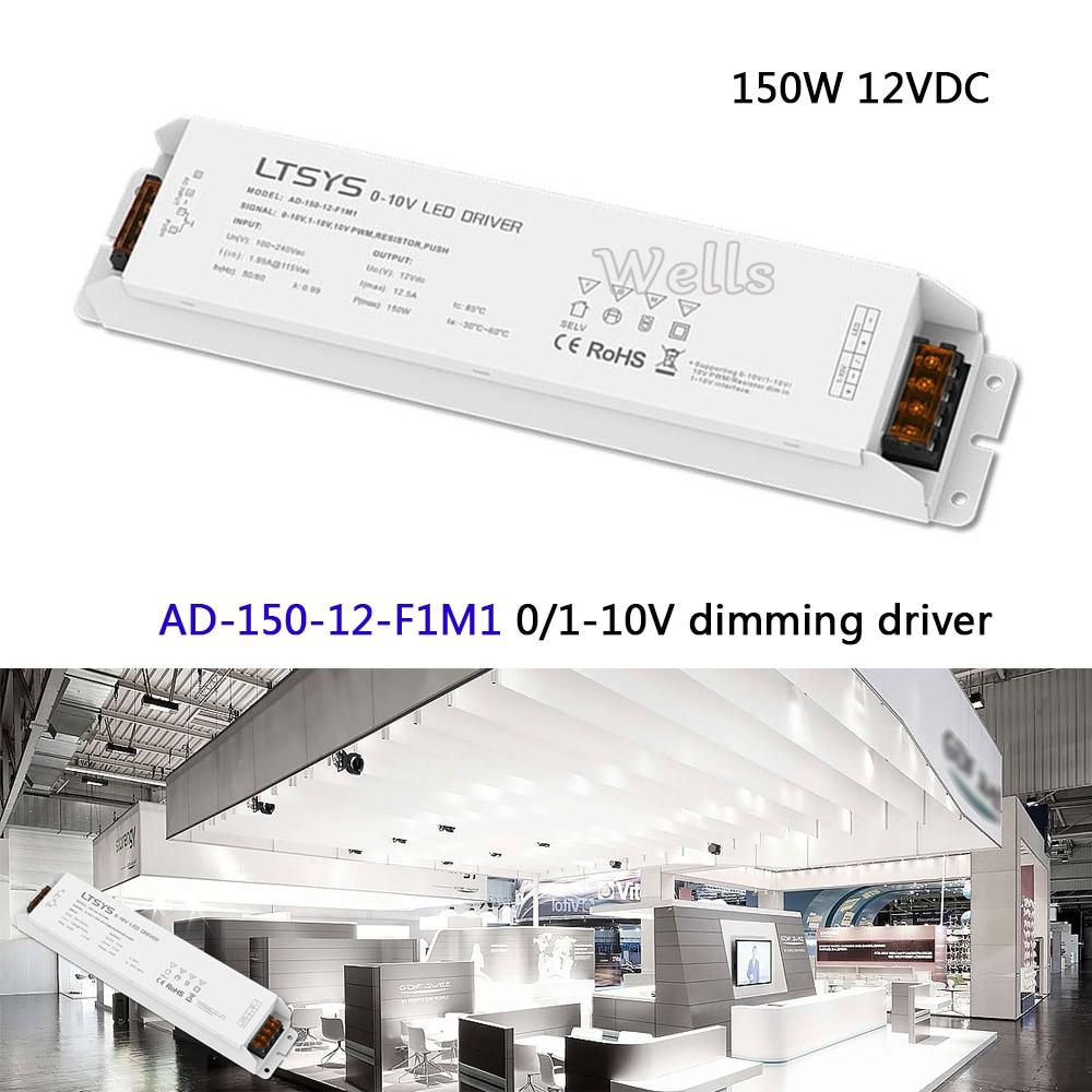 Free Shipping CV Led Driver;AD-150-12-F1M1;AC100-240V input;12V/12.5A/150W output 0/1-10V led dimming driver цена