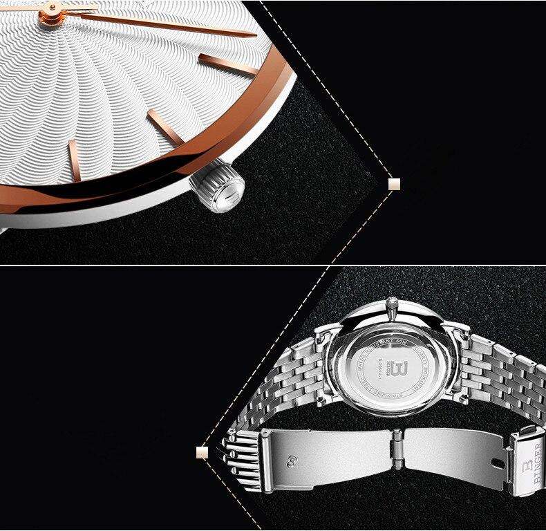 relógio de Pulso Analógico Relógio de Aço
