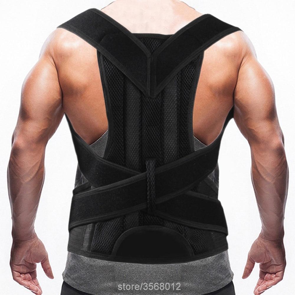 Adjustable Posture Corrector Corset Back Support Brace Silver Belt Orthopedic Vest Posture Correct Belt Health Care Men Women