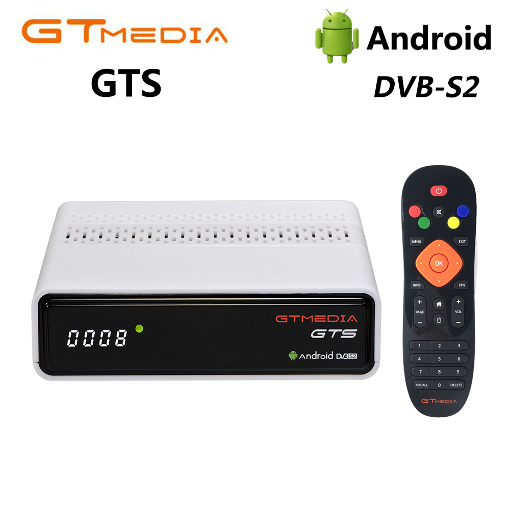Freesat GTmedia GTS DVB-S2 Satellite Receiver Amlogic S905D WiFi BT4.0 Android 6.0 TV BOX 2GB RAM 8GB ROM +1 Year Cccam Receptor