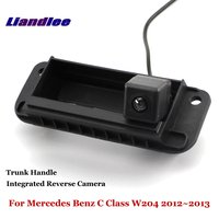 Liandlee For Mercedes Benz C Class W204 2012~2013 Car Reverse Camera Rear View Backup Parking Camera / Integrated Trunk Handle