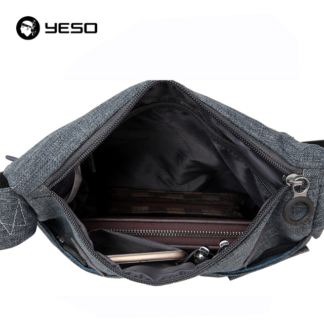 YESO Business Travel Messenger Bag Unisex Waterproof Oxford Casual Crossbody Bag Men Women Brand Lightweight Shoulder Bags