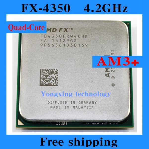 FX 4350 4.2GHz 8M Quad Core desktop processors CPU Socket AM3+ Computer Four nuclear Original authentic bulldozer