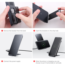 Baseus Qi Wireless Charger For iPhone X Samsung Note 8 S8 Plus S7 S6 Edge Phone Fast Wireless Charging Docking Dock Station
