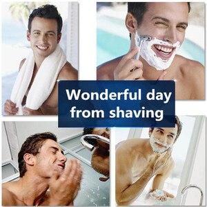 Image 4 - Lâmina de barbear masculina, 1 peça/3 peças barbeador elétrico dorco pace 6 camadas barbeador reto máquina de barba