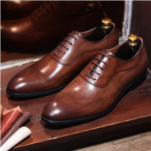 CH.KWOK British Bullock Oxford business men shoe black/brown lace up dress shoes Italian shoes handmade leather shoes chaussure