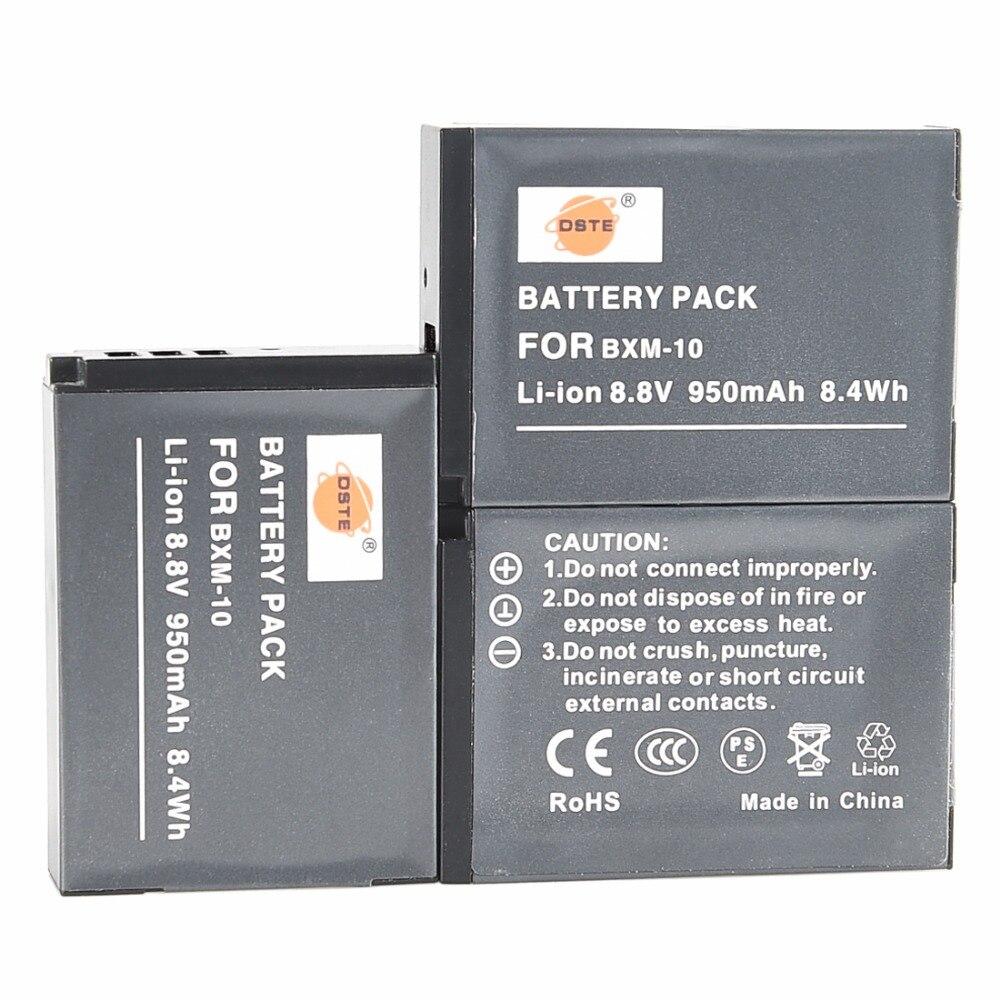 DSTE 3x BXM 10 Li ion Battery Rechargeable Batteries for XiaoYi YI M1 mirrorless digital camera