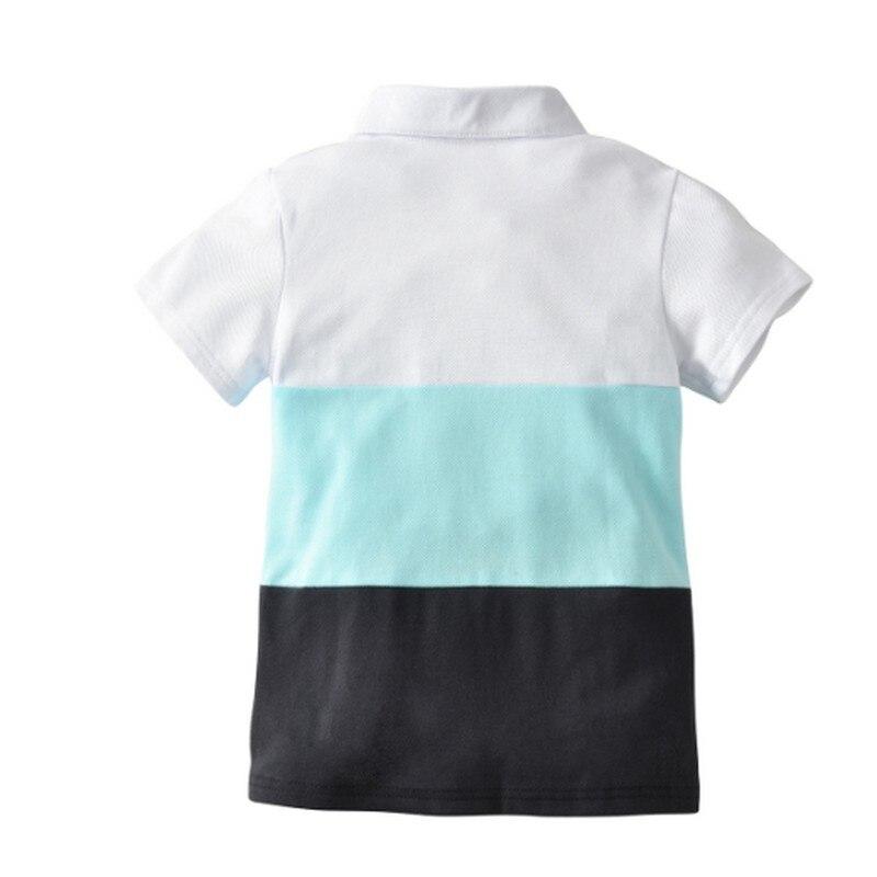 Fashionable Kids Baby Boys Shirts Summer Europe and America Minimalism Contrast Color Comfortable Kids Boys Child Polo Shirt