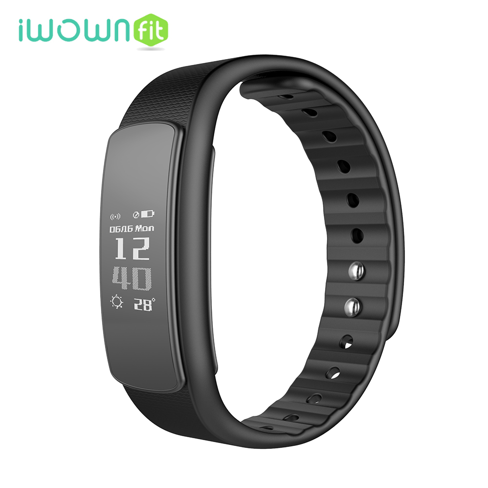 IWOWNFit i6 HR Heart Rate Monitor Smart Band Bracelet Fitness Tracker Activity Smartband IP67 Waterproof for Android IOS Phone mio fuse heart rate training activity tracker