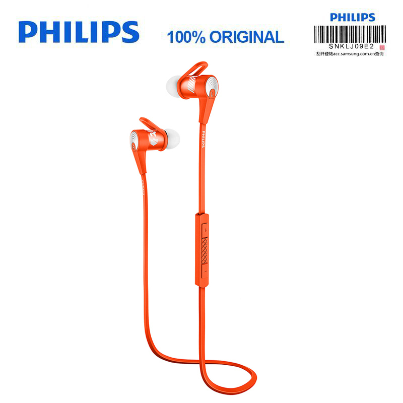 New Philips official authentic SHQ7300 sport Bluetooth headset with neck microphone waterproof for S9 S9Plus headphone philips bluetooth headphone shb3060 wireless headset with micro usb lithium headband battery 11 hours music time for s9 s9 plus