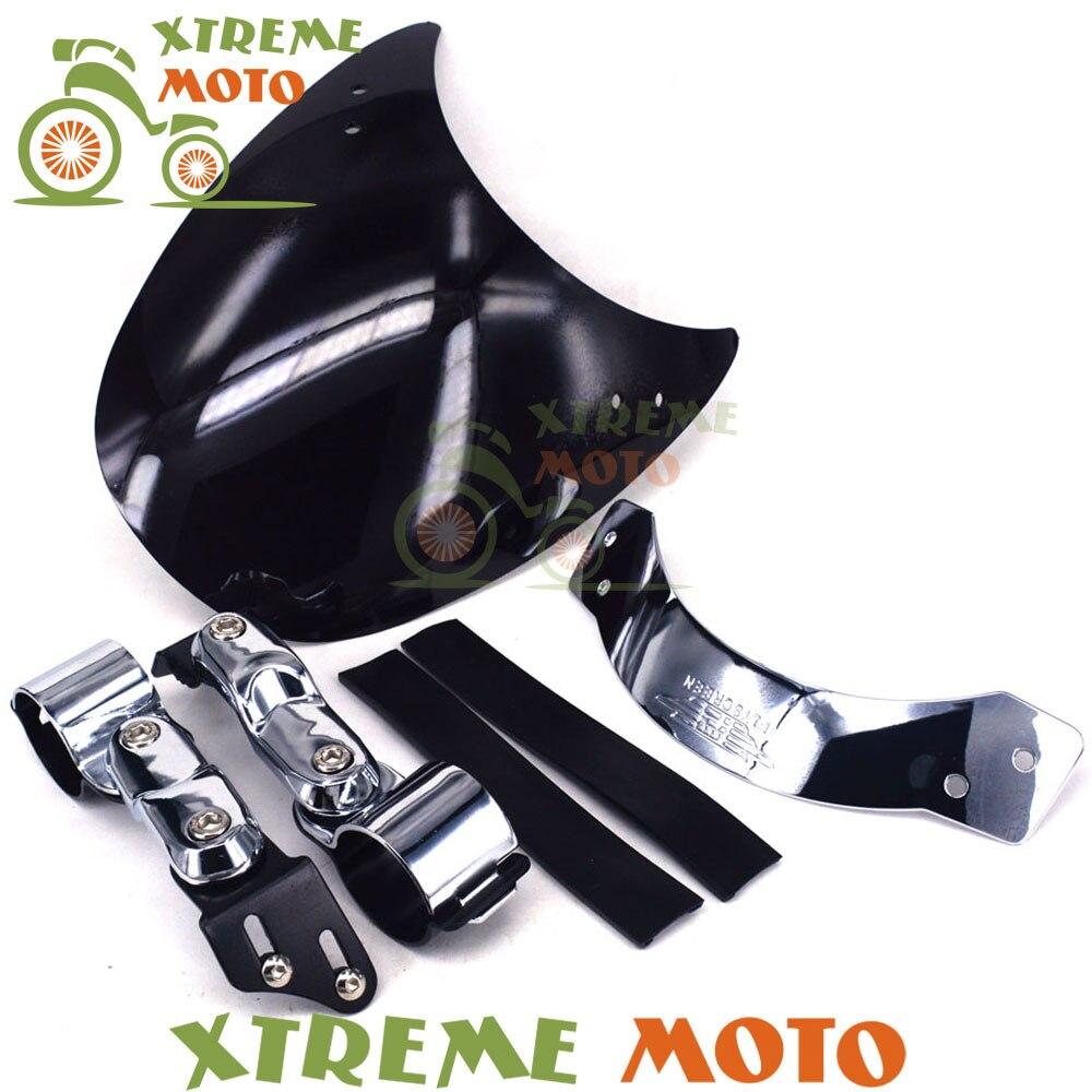 ФОТО Universal Windscreen Windshield For Harley Dyna Super Glide Low Rider Softail Roadster Sportster CB125S CB250 CMX250C CMX450C