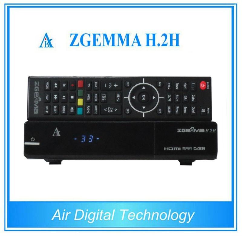 5pcs Sat+IPTV Zgemma H.2H Dual Core Combo DVB-S2+DVB-T2/C Hybrid USB WIFI Linux E2 Satellite Receiver 10pcs zgemma star i55 support satip iptv box bcm7362 dual core mainchipset 2000 dmips cpu linux enigma 2 hdmi connection