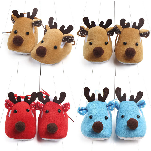 Solid Cotton Deer Print Shoes 1
