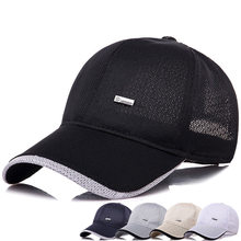 7dcf4591aad 2018 Black Polyester Mesh Baseball Cap Men Women Summer Hats Snapback  Casquette Dad Hat Outdoor Leisure