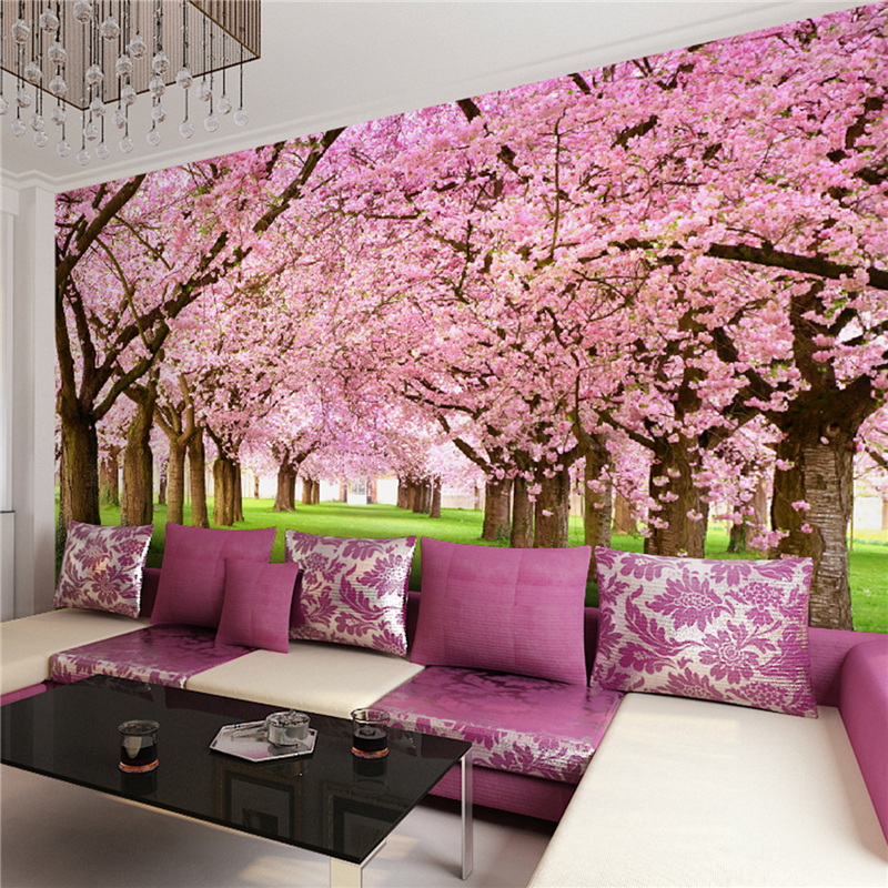Wallpaper For Homes Wall Covering : Floral wallpaper contemporary wall covering other peach