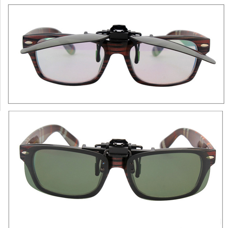 accac2cdb6 LANBO Polarized Sun Glasses Clip On Sunglasses Driving Night Vision Lenses  Plastic Case Anti UVA Shades For Women Men 0103-in Sunglasses from Apparel  ...