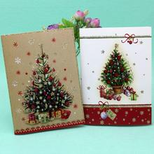 10 Pcs/lot Christmas Music Card Color Printed Christmas Poster Card Greeting Card Kids Gift Merry Christmas Greeting Card uv ink printed barcode card and plastic member key card 3 part supply