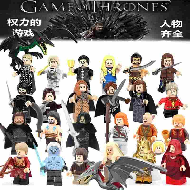 Single sale Game of Thrones building blocks Ice and Fire Jon Snow Benjen Stark White Walke Jeor Mormont Sam bricks toys for KIDS