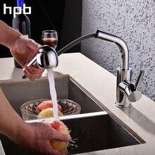 Блаватская вытащить опрыскиватель и 360 градусов вращения кухонный кран, Один H and Le хром закончил смеситель горячей и холодной воды HP4102