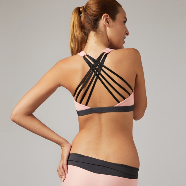 Yoga Bra with Crisscrossed Straps on the Back