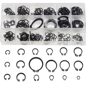 225PCS Circlip Set External/Internal Retaining E-type Cir clip Lock Snap Retaining Ring Assortment Set holes Shaft Collar Washer(China)