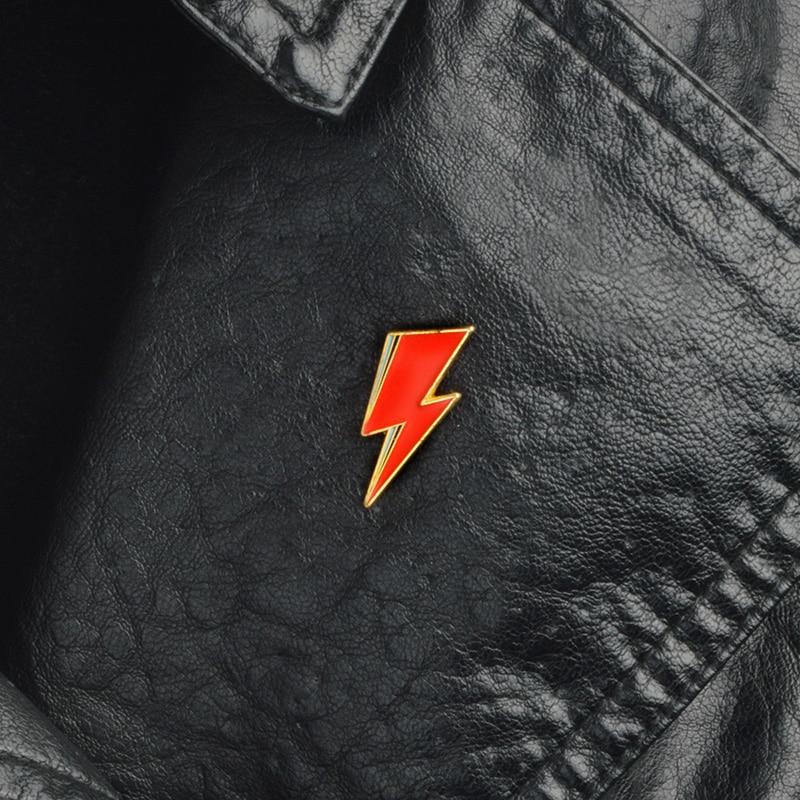 Aladdin Sane Lightning enamel pin David Bowie style Brooches Gift Art Glam Rock icons Pin Badge Gift for Rock fans men women 4