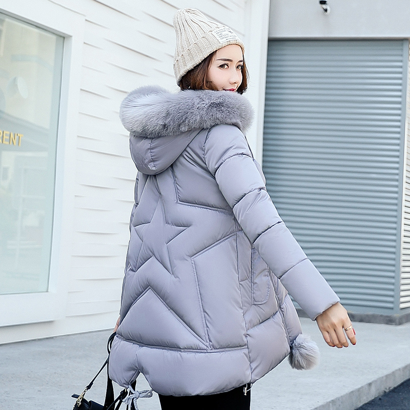 Winnter Jacket Women 2017 ladies coat Female Overcoat Windbreaker Faux Fur Hooded Parkas Cotton Padded Casual Slim Long Coat wmwmnu women winter long parkas hooded slim jacket fashion women warm fur collar coat cotton padded female overcoat plus size