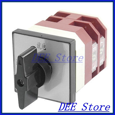 AC 380V 16A ON-OFF 2 Position Rotary Cam Universal Power Changeover Switch load circuit breaker switch ac ui 660v ith 100a on off 3 poles 3 phases 3no 2 position universal rotary cam changeover switch