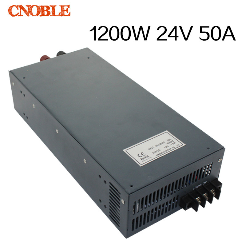 1200W 24V 50A adjustable 110V input Single Output Switching power supply for LED Strip light AC to DC single output uninterruptible adjustable 24v 150w switching power supply unit 110v 240vac to dc smps for led strip light cnc