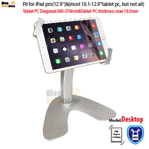 Rotation Base Security Kiosk Locking Holder Anti-Theft desktop for 10-12.9 Inch Tablets Surface Pro Samsung support metal(China)